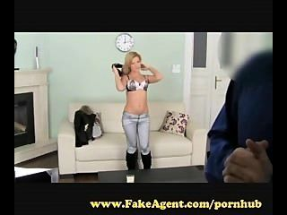 Fakeagent. Blonde Escort Wants To Be A Pornstar.