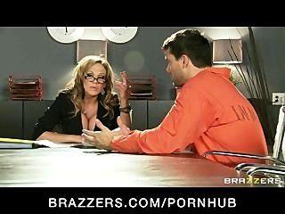 Hot Big-boob Brunette Milf Lawyer Nikki Sexx Fucks Inmate Client