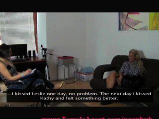 Femaleagent. Reality Tv Babe Tries Porn