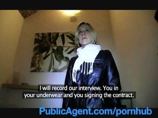 Publicagent Blonde Fucks To Be A Model