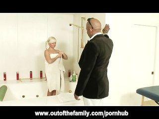 Shane Diesel Massages And Fucks Blonde Teen Stepdaughter