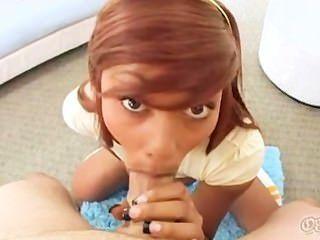 Leilani Leeane Gets A Faceful Of Hot Cum