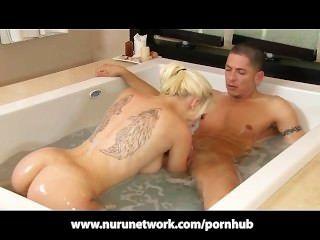 Sexy Massage Girl Stevie Shay Nuru Massage Fuck