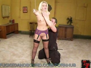 Hot Blonde Bound And Fucked In The Ass