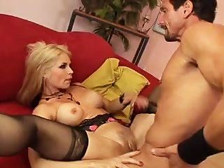 Sarah Vandella Drains A Brimming Ball Bag