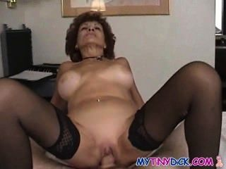 Milf Gets Naked With A Small Cock Guy