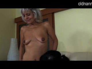 Old Mature Licking Young Pussy