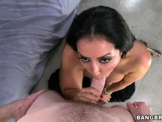 Big Brown Latin Ass Gets Some Hard Cock