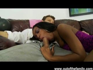 Ebony teen fucks white stepdad tmb
