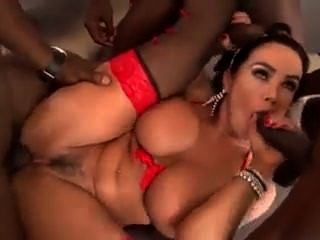 Lisa Ann Gangbanged But Big Black Dicks