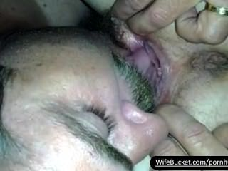 Milf Getting Her Pussy Licked Good By Her Devoted Bf