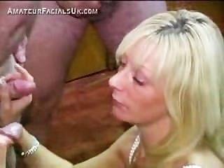 Mature Bukkake Slut Facially Blasted