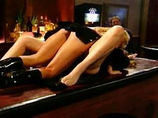 Two Milfs Fuck On The Bar