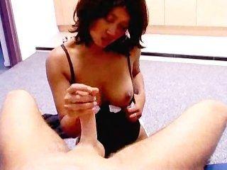 My Asian Girlfriend Doing A Handjob