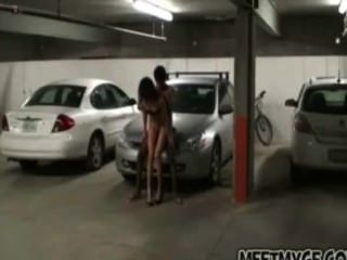 Real Couple Fucks In Parking Lot