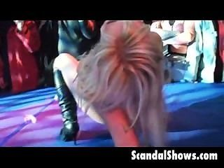 Stripper Spreading Her Legs On Stage