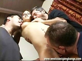 Rochelle Gangbang Creampie And Cumshots