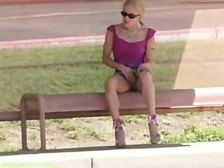 Kylie Just Hanging Out At The Bus Stop