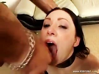 Messy Mouthfuls Of Sperm For Hungry Cumsluts