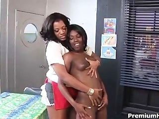Black Lesbians Chillin Out With Toy
