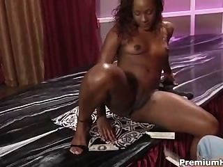 Black Babe Striping And Banging