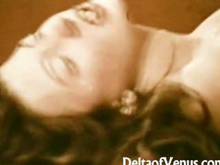 John Holmes Fucks Hairy Burnette Girl - Vintage Porn 1970s
