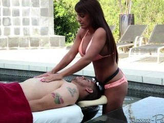 Big Boobs Happy Ending Massage On The Poolside