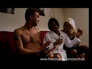 French Pervert Couple Fucks In Front Of Tied Teen