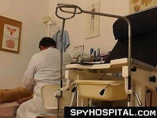 Old Doctor Pervert Spying On Patient Pussy