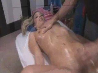 Blonde Tempts Her Masseur