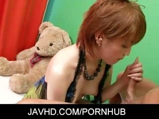Japanese Babe Kaoru Amamiya Masturbation And Blowjob Cumshot
