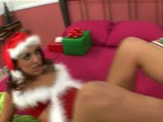 Audrianna Angel Gives A Footjob In Santa Suit For A Very Merry Christmas