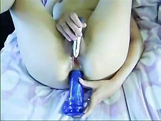 Pushing A Dildo Up My Tight Ass!
