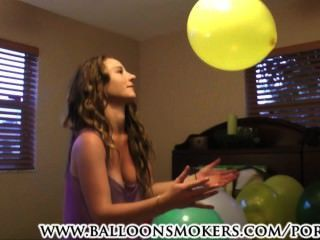 Samantha Summers In First Ever Balloon Popping Video