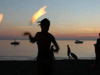 Topless Fire Dancing
