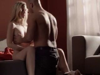 Neat Blonde Fucked On The Couch