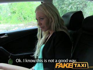 Faketaxi Blonde Must Suck Cock Not To Miss Her Flight