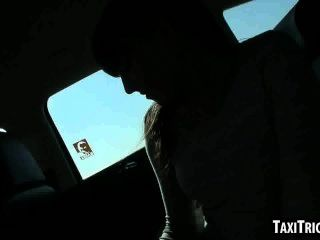 Tasty Brunette Teen Getting Fucked Hard In A Taxi