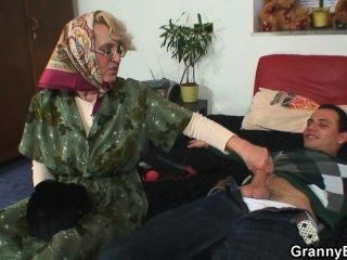 Grandma Pleases An Young Guy