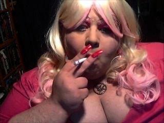 Dianel Big Tits Sissy Smoke Slut