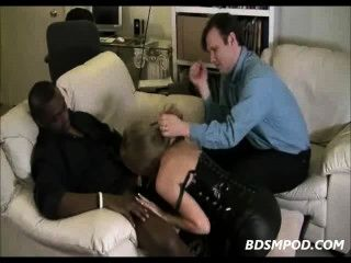 Interracial Cuckold Blowjob