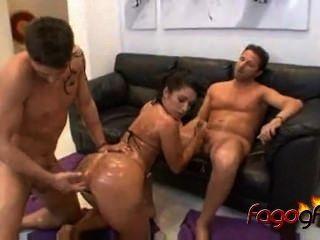 Monica Santhiago Big Booty Gets Oily