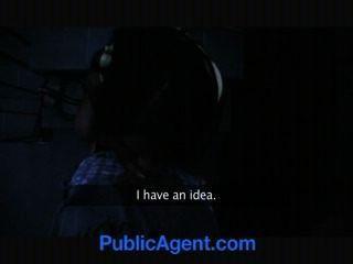 Public Agent Hot Black Babe Needs White Cock