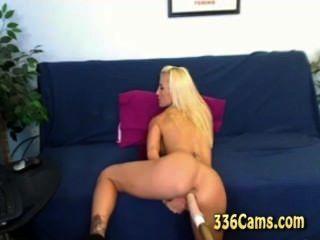 Hot Pornstar Britney Rides Sex Machine On Webcam