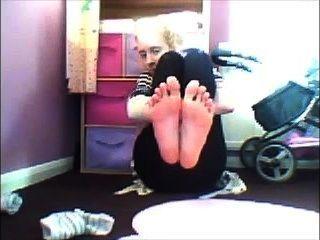 Cute Girl Shows Her Feet