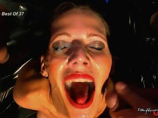 German Brunette Satisfies Her Cum Cravings