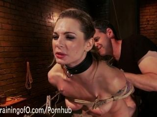 Bailey Blue Learns Her First Slave Lessons