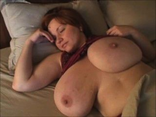 A Redhead-bbw-milf With Huge Boobs