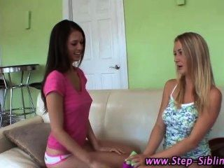 Dirty Step Sisters Lick Pussy