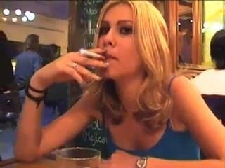 Blonde Smoking 2